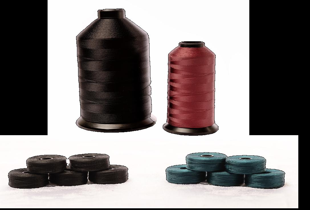 Bonded Nylon Thread and Bobbins